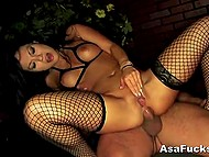 Gorgeous Asa Akira sucked hard boner excellently and satisfied guy with her asshole