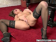 Little Caprice's little fingers perfectly push piano keys as well as caress tiny clit 10