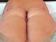 Voluptuous Phoenix Marie came out of the bathroom and got in the hands of hungry friends 4