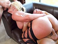 Voluptuous Phoenix Marie came out of the bathroom and got in the hands of hungry friends 7