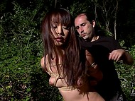 Pervert ties up obedient Asian with hairy pussy and she doesn't even try to resist 9