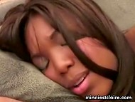 Chocolate babe showed diligently to guy everything that she was capable to do with her skillful mouth 11
