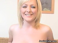 Cheerful British Jessica Cute accepted man's advice and started to entertain without any hesitation 7