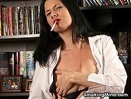 Seductive baroness XXX Mina knows how to transform smoking into spectacular show 4