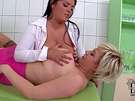 Busty nurses gave tired doctor great tittyfucking and sucked his cock after hard working day 10