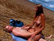 Rural macho had gorgeous time with heady enchantress away from prying eyes 10