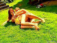 Youngster brought red-haired babe outdoors to unwind and try out some sex positions 9