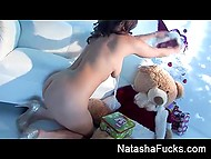 Busty MILF Natasha Nice couldn't wait till the holidays and opened one of the boxes 4
