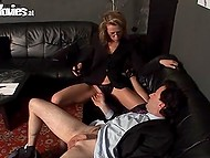 Man is glutton for punishment and he adores when woman kicks balls cuz it makes his cock raise 4