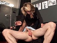 Man is glutton for punishment and he adores when woman kicks balls cuz it makes his cock raise 8