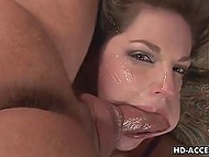 Newly porn actress Bobbi Starr didn't have time to answer the question because long-haired bumpkin's dong stuffed her mouth 7