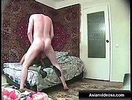 Just Turkish slut's legs and arse are visible while man is nailing her anal in doggystyle 4