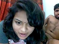 Young Indian gives boyfriend a head and facesits him in the webcam amateur video 8
