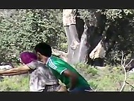 Mesut Ozil fan was caught on camera when was owning Muslim teen in hijab behind the tree 8