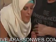 Muslim masturbates, sucks, and fucks but doesn't take off hijab in three scenes 9