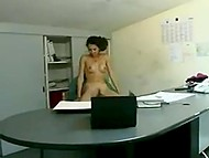 Boss and slutty Arab secretary was alone in the office and didn't waste a second in vain 7