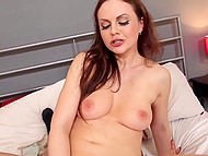 Voluptuous Lithuanian Tina Kay with brown hair wanted cameraman to nail her pussy till it goes red 9