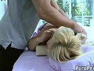 Relaxing back massage for captivating pornstar Madison Ivy from Germany 10