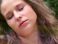 Old tempter with amarous look allured young colleen and threw her a leg in the park 4