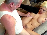 Old man has been married to wife for ten years but couldn't resist fucking young stepdaughter