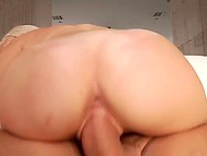 Remarkable platinum blonde wanted to see elegant hell of a guy's penis so he took off pants 9