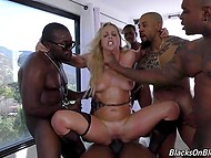 Sweetie made mistake trying to cheat on black guys and paid for it with her holes 9