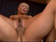 Blonde looks like a glamorous lady but gets fucked by two partners like a whore 5