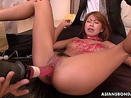 Asian is crying and begging for mercy but her afflictions just excite abandoned men 10