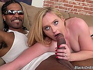 Three huge black dick calmed down pale-skinned Harmoni Kalifornia in fashioned stockings 6