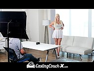 Platinum blonde with perfect melons by the name of Kylie Page came to the casting to get in alluring world of porn industry 5