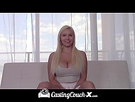 Platinum blonde with perfect melons by the name of Kylie Page came to the casting to get in alluring world of porn industry 6