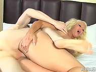 Big-breasted diva Alura Jenson didn't want to get pregnant but careless dude ejaculated in bald twat 8