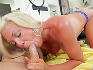 Guy theatricalized first but blonde knew how to talk and seduce such kind of tight-ass 10