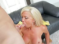Guy theatricalized first but blonde knew how to talk and seduce such kind of tight-ass 8