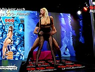 Seductive German in fashioned bodystocking had sex and tasted man's juice with joy 4