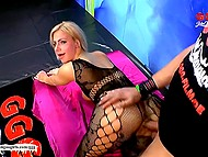 Seductive German in fashioned bodystocking had sex and tasted man's juice with joy 5