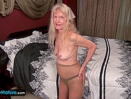 Two scenes with scrumptious blondes who at any age will not refuse to masturbate their peaches 4