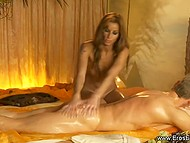 Lady is doing massage being absolutely naked and fondling not only body but member as well 8