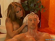 Lady is doing massage being absolutely naked and fondling not only body but member as well 9