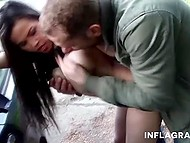 Man picked up seductive Asian with huge jugs and fucked her in the public place 5