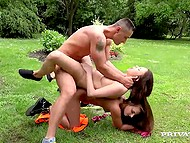 Outdoor workout helped beautiful girls to relax and made them want hard cock 11