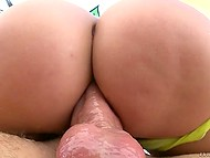 On deserted waste ground awesome beauty gives her pretty booty to her lover's member 4