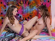 Enchanting lesbians' fire of love burns brightly thanks to cunnilingus and active fingering 8