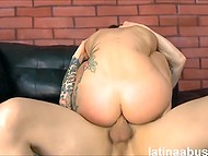 Latina didn't expect that dude would shove his dick so deep but there was no way out 7