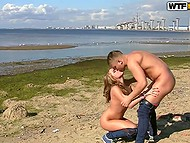 In sands of nude beach teens have their first romantic date and also their first sex 9