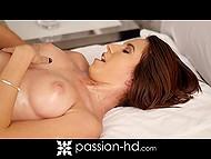 Ravishing damsel removed sheer negligee before masseur began to rub amazing body 7