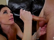 Lady didn't tasted male cock for a long time that's why she seduced young boy 5