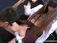 Japanese tied up girl and tormented her with vibrators but with good purposes 6