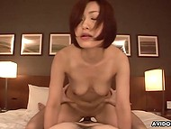 Delicate Asian lovely heated a little bit her cunny before sex and had orgasm thanks to her boyfriend 5