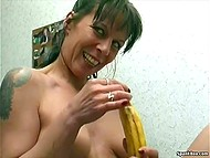 Granny is still naughty jade and can give a run to many young girls playing with banana